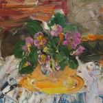 Фиалка белая натюрморт цветок в