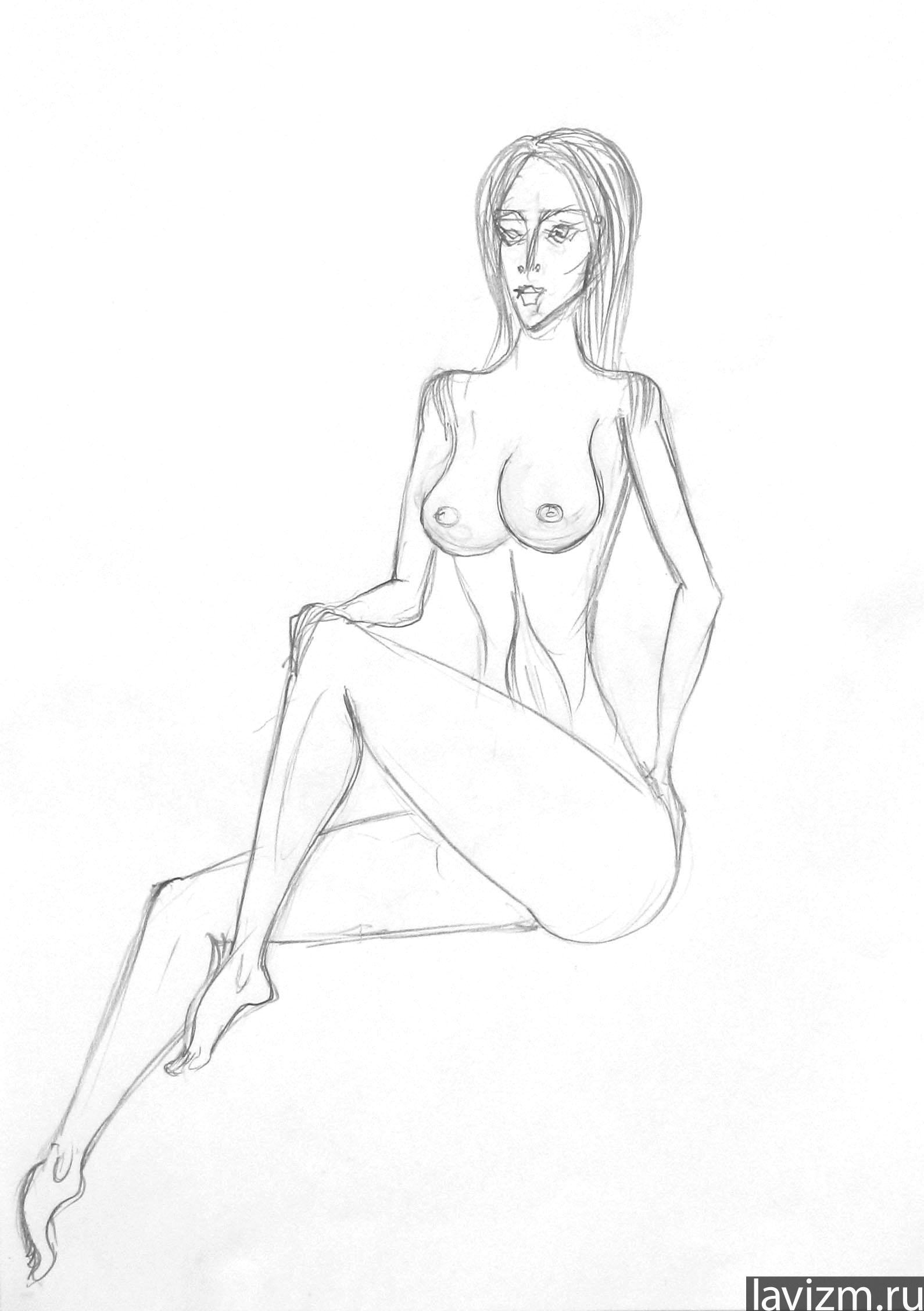 Как Нарисовать Обнаженную Девушку